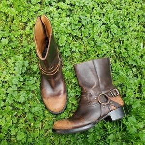 Frye Riley Harness Men's Boots Distressed 7.5